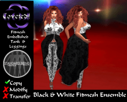 Black & White Fitmesh Ensemble